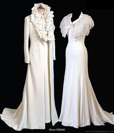 1930's wedding gown/coat ensemble #1930s #vintage wedding