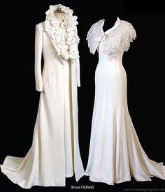 1930's wedding gown/coat ensemble #1930s #vintage wedding