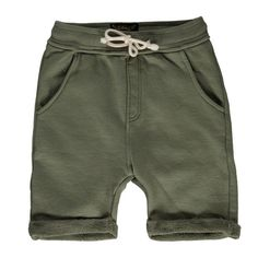 Finger in the Nose Grounded Knitted Fleece Bermuda Shorts Dark Olive