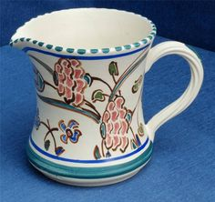 Hand Painted Honiton Pottery Jug with Impressed Makers Mark