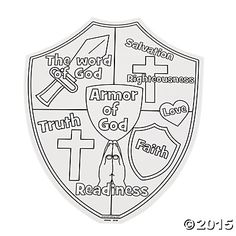 """Color Your Own """"Armor of God"""" Cutouts - Oriental Trading"""