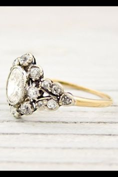 Beautiful cluster ring