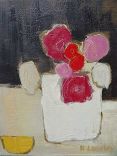 Bridget Lansley – Flowers in Stone Pot Art Floral, Abstract Flowers, Abstract Art, Abstract Portrait, Portrait Paintings, Acrylic Paintings, Art Paintings, Still Life Art, Painting Inspiration