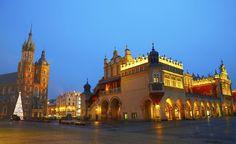 #Cracovia, luci di Natale in Piazza del Mercato