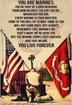 Once a Marine, always a Marine. Marine Corps Memes, Us Marine Corps, Marine Corps Tattoos, Marine Corps Birthday, Marine Tattoo, Marine Quotes, Usmc Quotes, Quotes Quotes, Once A Marine
