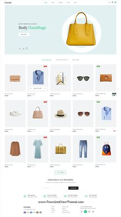 Famita is a clean, stylish and modern design #PSD #theme for stunning fashion #shop #eCommerce website with 13+ homepage layouts and 50+ layered PSD files to download & live preview click on image or Visit 🡽 #webdesign