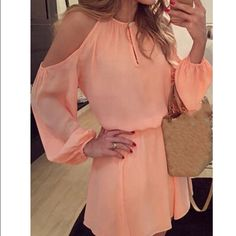 Romper dress for women peach colored Brand new Romper dress for women! Peach colored Pants Jumpsuits & Rompers