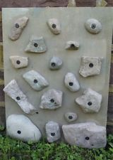 12 Rock Climbing Holds - Made From Real Rocks! - Fits Standard Walls