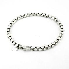 Tiffany & Co. Venetian Box Link Bracelet in 925 Sterling Silver  #TiffanyCo #Chain