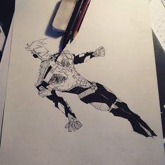 """Voici mon futur personnage de ma propre série comics que j'ai appelé """"the phœnix heroes"""". Dites moi ce que vous en pensez dans les commentaires BYE!"""