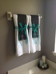 Teal Bathroom Decor Ideas HOME Decor Pinterest Teal Bathroom - Decorative towels for bathroom ideas for small bathroom ideas