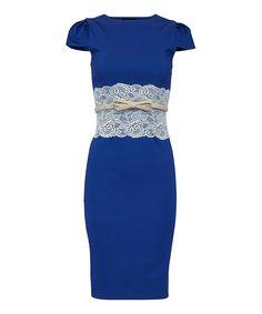 Look what I found on #zulily! Blue & Cream Katrina Dress - Plus Too by London Dress Company #zulilyfinds
