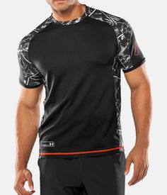 Men's UA Combine® Training Plus Short Sleeve T-Shirt, Black , zoomed image