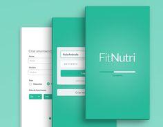 O FitNutri não é um aplicativo real. A interface desenvolvida para um trabalho acadêmico.A atividade era projetar o design de um aplicativo de saúde/fitness,onde os usuários pudessem catalogar suas atividades diárias.