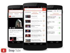 SnapTube es una aplicación gratuita para Android que te permite descargar videos y música de YouTube fácil y rápidamente.
