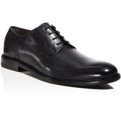 Hugo Corio Plain Toe Derby Shoes (30430 RSD) ❤ liked on Polyvore featuring men's fashion, men's shoes, men's dress shoes and black