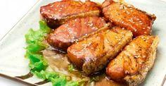 Diet recipe Salmon in teriyaki sauce