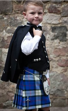 If I know my fiancé as well as I think, he will wear his kilt on our wedding day. We MUST get one for the ring bearer as well. Too cute, little kilts!!