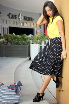 Hi Everyone, Entire Outfit - Max Fashion Shoes - OASAP If I have to pick one trend to adopt, it w. Indian Fashion Bloggers, Fashion Trends, Travel Workout, India Fashion, Pick One, Style Blog, Midi Skirt, Button, Stylish