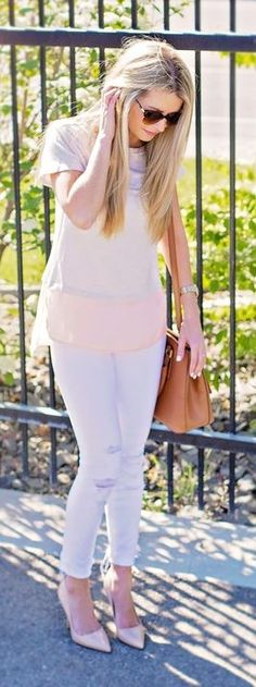 Nude And White Spring Style