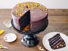 Dark Chocolate Mascarpone Layer Cake w/Dark Chocolate Ganache