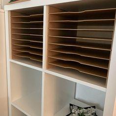 Ikea Craft Storage, Scrapbook Paper Storage, Ikea Craft Room, Puzzle Storage, Ikea Pantry Storage, Ikea Hack Storage, Ikea Storage Cabinets, Vinyl Storage, Craft Rooms