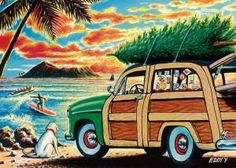 Buy Pacifica Island Art Surfing Holidays by Eddy Y - Set of 12 Hawaiian Christmas Cards Beach Christmas, Christmas Cards, Christmas Ideas, Xmas, Christmas 2014, Hawaii Painting, Electronic Cards, Hawaiian Art, Christmas Traditions
