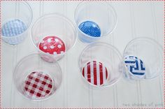 Two Shades of Pink: Simple 4th of July Party Cups