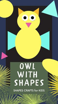 An easy Owl DIY Paper Shapes Craft for kids of all ages & to use mathematical basic colorful geometrical shapes to little kids while building their own Animals. Ready to go Printables. No preparation required. Fun Activities For Toddlers, Fun Math Activities, Educational Activities For Kids, Diy Quiet Books, Quiet Book Patterns, How To Teach Kids, Shape Puzzles, Shape Crafts, Paper Crafts For Kids