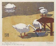 Martha Cunz, 1876-1961.  Originalholzschnitt Handdruck,  1908, 19,5 x 25,5 cm.