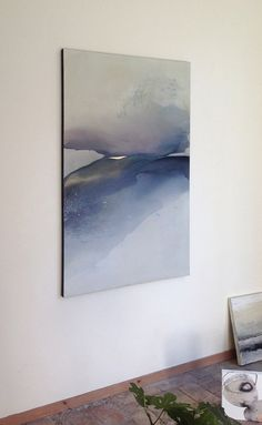 Original artwork for master bedroom....Large Landscape, Original Painting on Canvas, Blue and Brown Painting / Abstract Landscape on Canvas / Modern Art - Contemporary Art by MadlenDesign on Etsy https://www.etsy.com/au/listing/242712955/large-landscape-original-painting-on