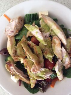 Chicken Salad with Basil Salad Dressing