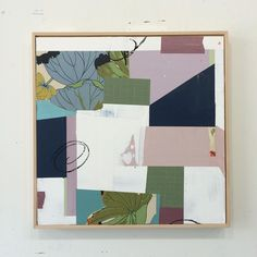 Megan Donnelly x Acrylic and collage Mixed Media Collage, Collage Art, Collages, Abstract Words, Abstract Art, House Color Schemes, Color Picker, Textile Artists, Wood Paneling