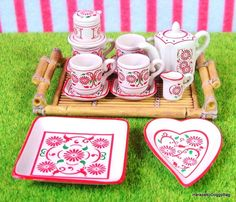 Re-ment / Rement : Japanese Dollhouse Toys : Asian Shop #1 : Miniature Tea Set