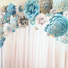 "351 Likes, 7 Comments - Flower Shower (@itstheflowershower) on Instagram: ""#paperflowers #floresdepapel #handmade #babyshower #paperflowersbackdrop #partydecoration…"""