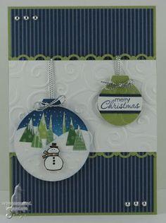 create a scene on the ornament - great idea