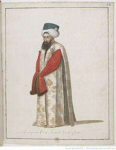 [Recueil. Dessins originaux de costumes turcs : un recueil de dessins aquarelles]
