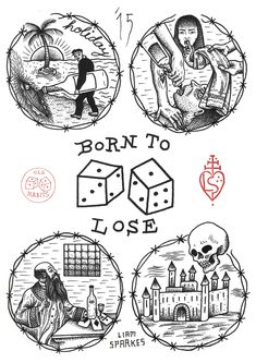 Designed by Liam Sparkes screen print on paper Purchase comes with a free Old Habits Dice pin (white and silver pin). Torso Tattoos, Body Tattoos, Knitting Tattoo, Lost Tattoo, Vintage Pop Art, Black Tattoos, Tatting, Screen Printing, Interiors