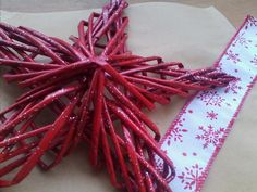 big red paper christmas star (25 cm)