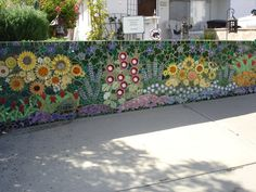 mosaic garden | creative and labor intensive mosaic garden wall.