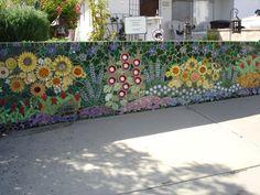 mosaic garden | creative and labor intensive mosaic garden wall.