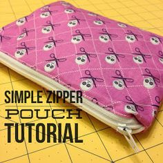 Quilting Tutorials and Fabric Creations | Quilting In The Rain: Simple Zipper Pouch Tutorial