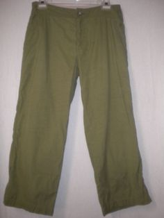 """The North Face Size 6 X 23"""" Inseam Olive A5 Series Womens Cropped Pants Capris #TheNorthFace #CaprisCropped"""