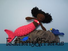 Gracie - Little Sister Doll in Mermaid Costume - Crochet Pattern by Alicia Moore of Featherby & Friends