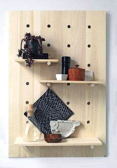 DiY Pegboard - love this idea for any room! Can paint the board and even paint…