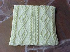 (6) Name: 'Knitting : Diamond Cable Panels Baby Travel Blanket