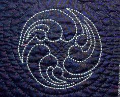Résultat de recherche d'images pour \Japanese sashiko embroidery sunflower pattern\