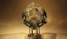 Spectrum Cube Crystal Cube Glass Sculpture by Fine Art Glass Artist Jack Storms5