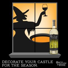 Fun Halloween and wine decals for the windows.