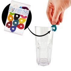 12 identificadores de copas y vasos - La gota que identificó el vaso